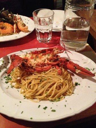 Pulcinella : pâtes au homard