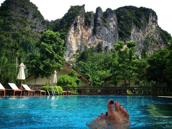 Aonang Phu Petra Resort, Krabi: Great view while taking a dip