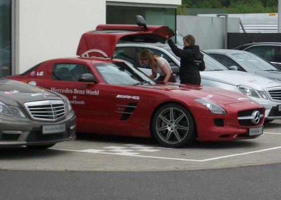 Mercedes benz world reception area picture of mercedes for Mercedes benz brooklands