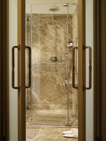 Augustine, a Luxury Collection Hotel, Prague : Bathroom a Walk-In Shower Detail