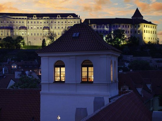 Augustine, a Luxury Collection Hotel, Prague: The Tower Suite at Twighlight
