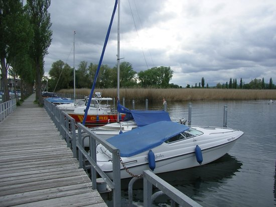 Gasthaus Schiff: Hinter dem Uferbereich liegt das Hotel