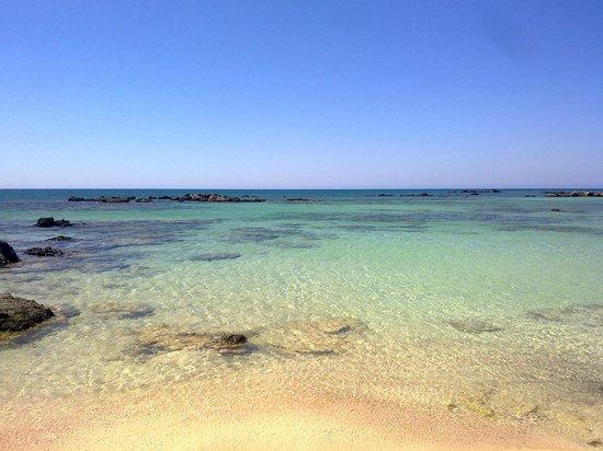 Aris Hotel: Spiaggia di Elafonissi