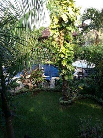 Suma Hotel Lovina Beach: view of pool from our balcony