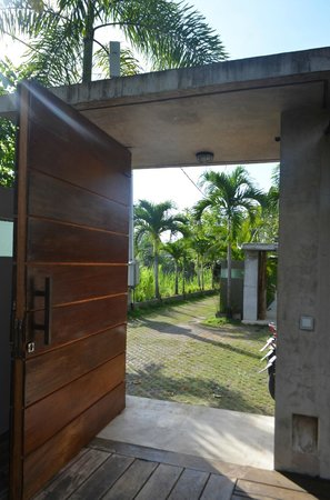 Villa Baraka : villa front door
