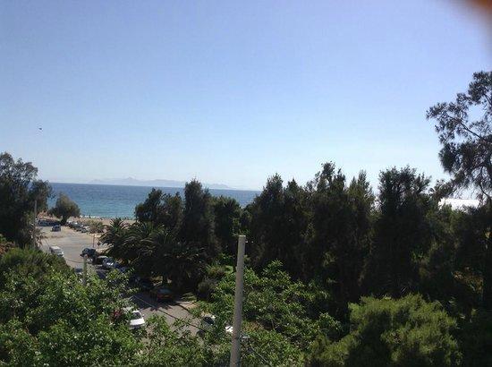 Palmyra Beach Hotel: Aussicht vom Balkon Zimmer 307