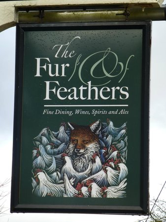 The Fur and Feathers: The sign of the pub