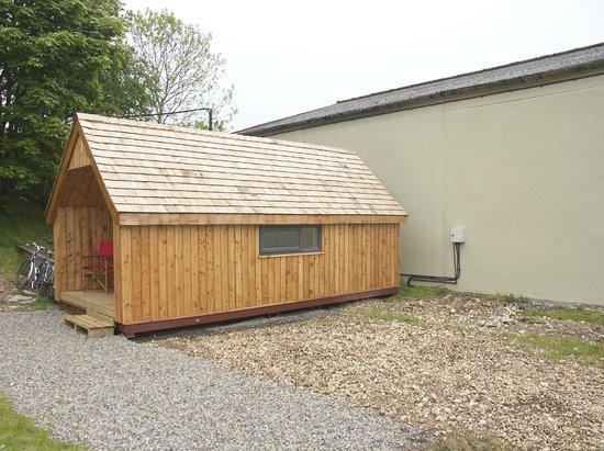 Huggate, UK: The wooden cabin