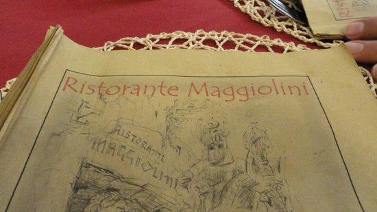 Menù, Ristorante Maggiolini