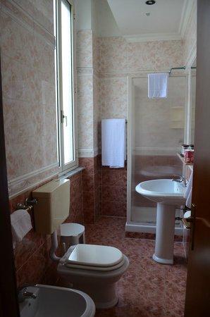 Hotel Daniela: American Size Bathroom