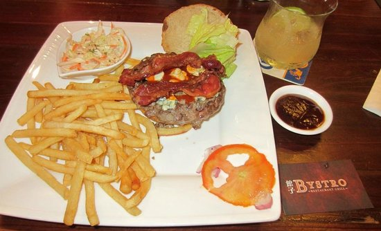 Bystro Restaurant Grill: The Blue Demon Burger