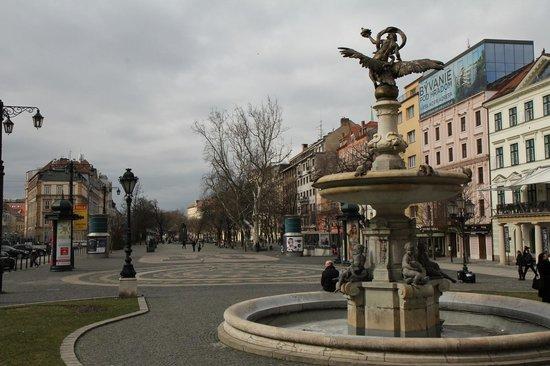 Hviezdoslavovo Namestie view from the Slovak National Theatre