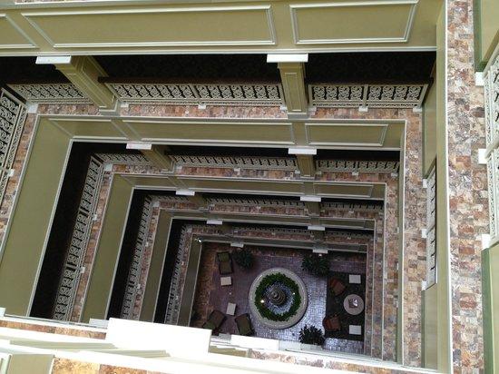 atrium looking down picture of wyndham la belle maison. Black Bedroom Furniture Sets. Home Design Ideas