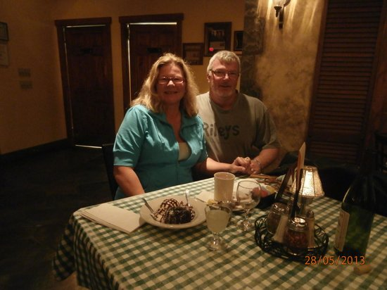 Jerlando's Ristorante & Pizza Co.: Carol and I after our delicious meal!