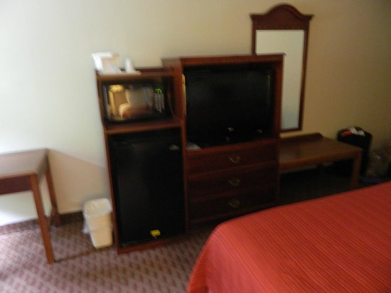 Quality Inn & Suites: small refrigerator and microwave in room