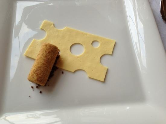The Lovat, Loch Ness: bread and cheese?  bread ice cream with lemon cheesecake topping :)