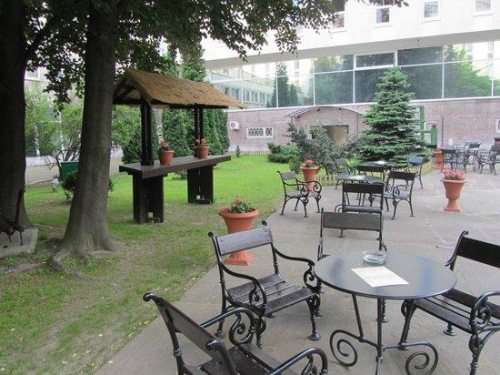 Gromada Hotel: cortile interno dell'hotel