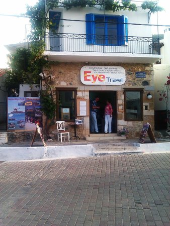 Eye Travel excursion office in Koutouloufari on Crete.