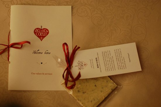 L'accroche Coeur - bed and breakfast : Welcome gift!