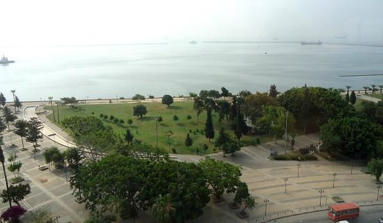 Mersin Hotel: view from breakfast lounge - looking southwards