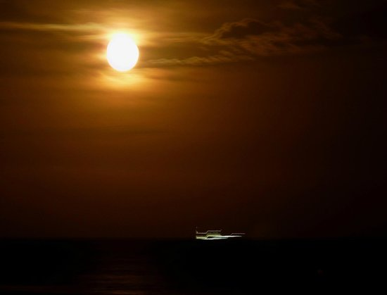 Bel Air Hotel : Strand bei Nacht