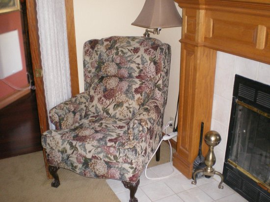 Shasta MountInn Retreat & Spa: Comfy chair by the fire to sit and read
