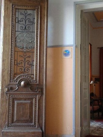 Tinion Hotel: The door of the hotel