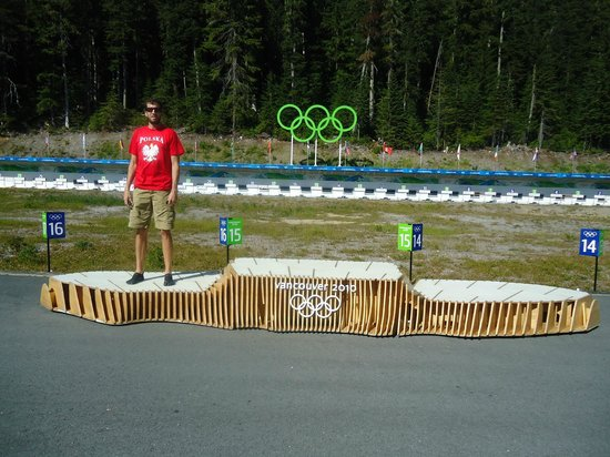 Whistler Olympic Park: Olympic Podium...2nd Place for Eric