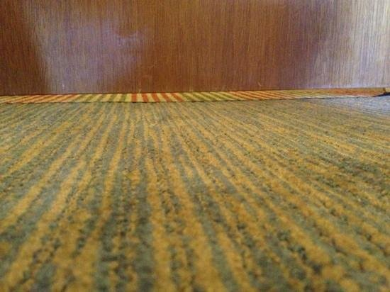 Crowne Plaza Hotel Kansas City Downtown: 1-inch gap below door, allowed us to hear everything in the hallway