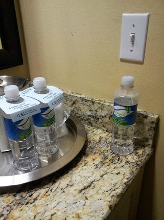 The Kinney: housekeeping staff left a half empty bottle of water that they tried to charge us for