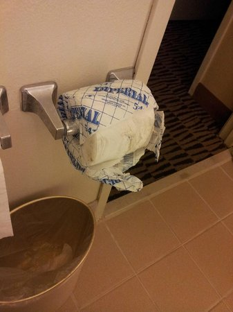 The Inn at Marina del Rey: dirty 2nd roll of toilet paper which wasnt like this 1st day