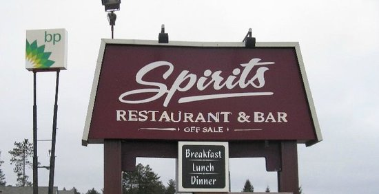 Spirits Restaurant & Bar: Spirits sign