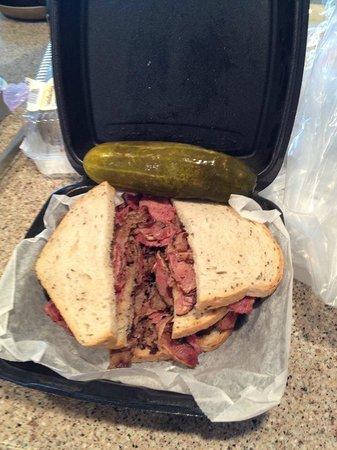 Rosenfeld's Jewish Delicatessen: Triple decker Schlepp - brisket, corned beef and pastrami!