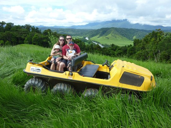 Argocat Tours: My family and I on the Argocat tour in Daintree.