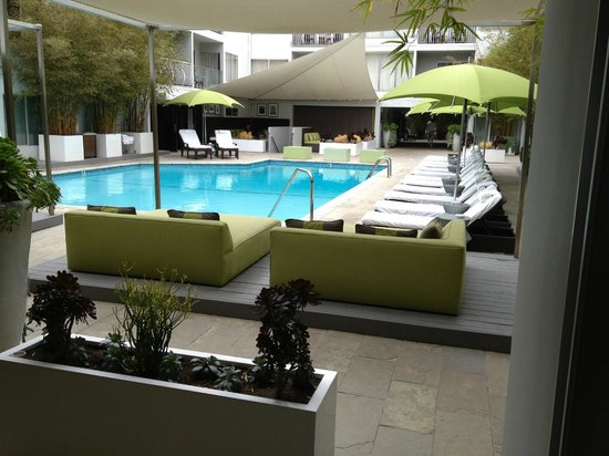 Sunset Marquis: pool view from outside our room (our own personal space)