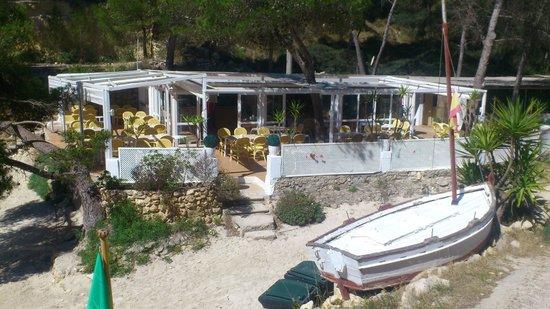 Playa Nudista El Mago: El Mago cafe