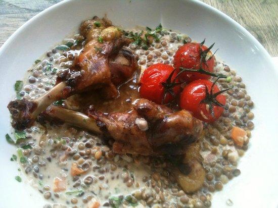 Cafe a la Une: Plat du jour : Risotto de lentilles et cuisses de canard confites