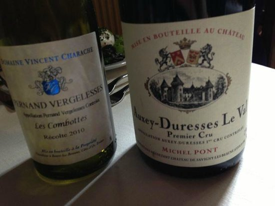 Le Cellier Volnaysien: The two wines we had