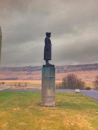Snorrastofa: Gustav Vigelands statue av Snorre