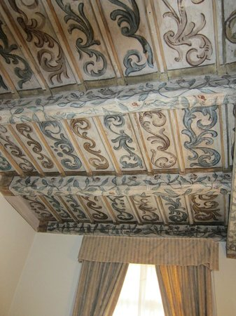 Hotel Residence Retezova: 16th-century painted ceilings in Rome room