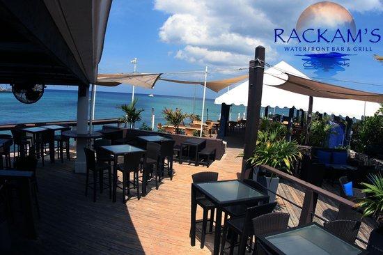 Rackam's Waterfront Restaurant & Bar: next to the bar at Rackams waterfront grand Cayman