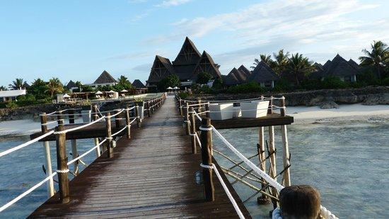 Essque Zalu Zanzibar: Resort view from wharf