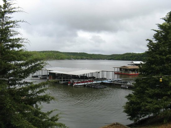 Breezy Point Resort: View from cabin of boat docks and fishing dock