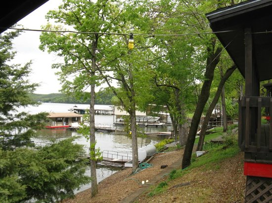 Breezy Point Resort : Another view of the grounds and docks from our cabin