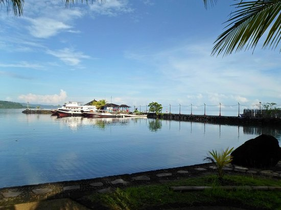 Tasik Ria Resort Manado: View of ocean and Jetty from Sea view rooms