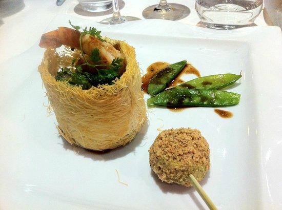 l'Aromat : ris de veau en kadaïf