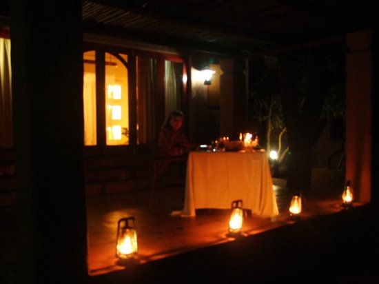 Sanctuary Chobe Chilwero: Special occassion, private dinner on your own verandah!