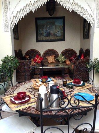 Riad Sofia: Petit déjeuner