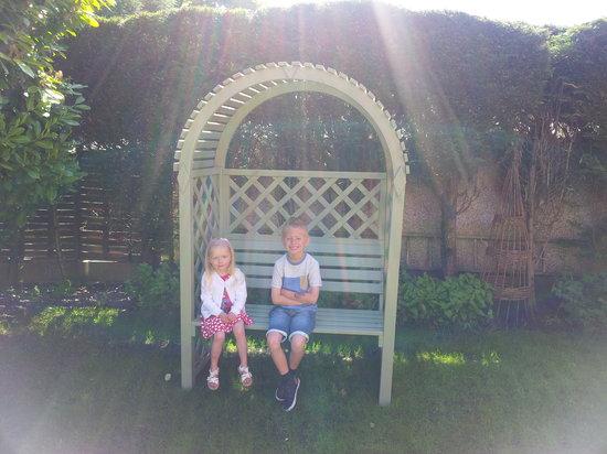 My children loved the seat in the garden