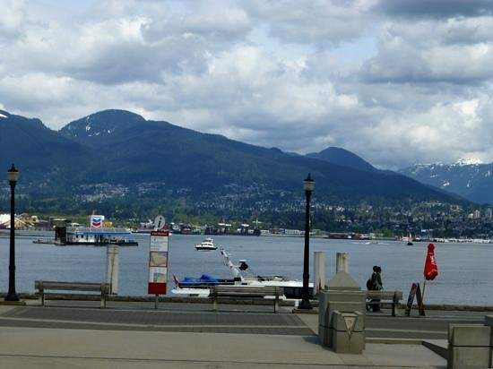 The Mill Marine Bistro: Patio view of Vancouver Waterfront.